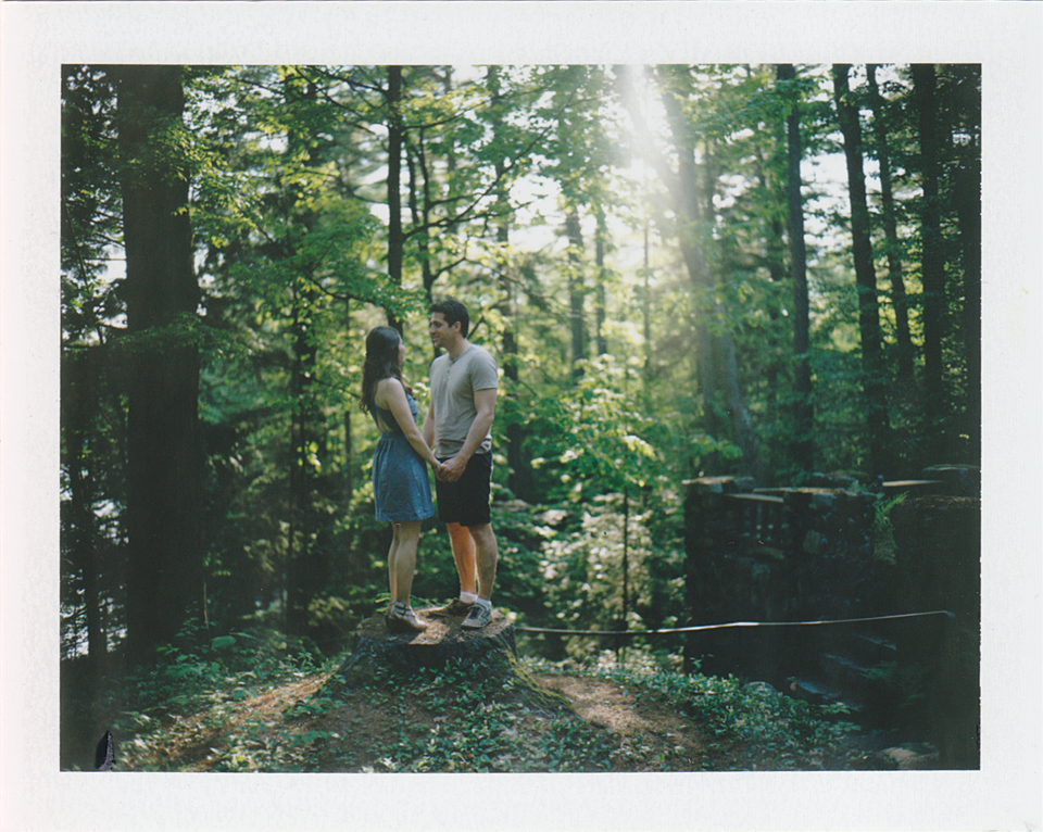 polaroid engagement session